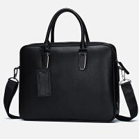 真皮男包手提包男士横款电脑包皮包休闲公文包男