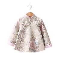 女童汉服套装改良中国风儿童唐装冬女宝宝加绒加厚旗袍冬季新年装