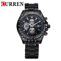 CURREN 卡瑞恩8083 男士防水石英日历手表 休闲商务大表盘腕表