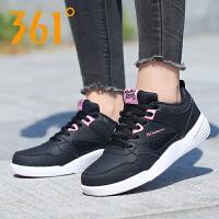 361度女鞋运动鞋 2018夏季舒适皮革板鞋店耐磨透361° 681636610