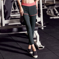 女士晨跑运动裤健身房运动跑步显瘦速干健身裤子 新款瑜伽服下装大码长裤女