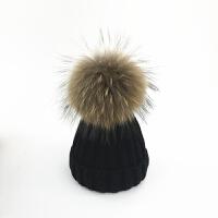 宝宝帽子冬季1-2-4岁3男女儿童针织帽婴儿毛线帽0-3-6-12个月亲子 均码