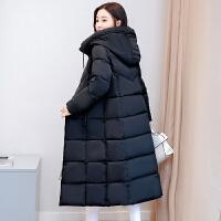 冬季棉袄棉衣女中长款过膝连帽加厚修身大码女士外套