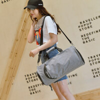 运动健身包男单肩训练包女行李袋鞋位大容量手提短途旅行背包 大
