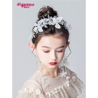 女孩头花花环头饰发带公主发夹女童演出饰品儿童发饰耳环套装