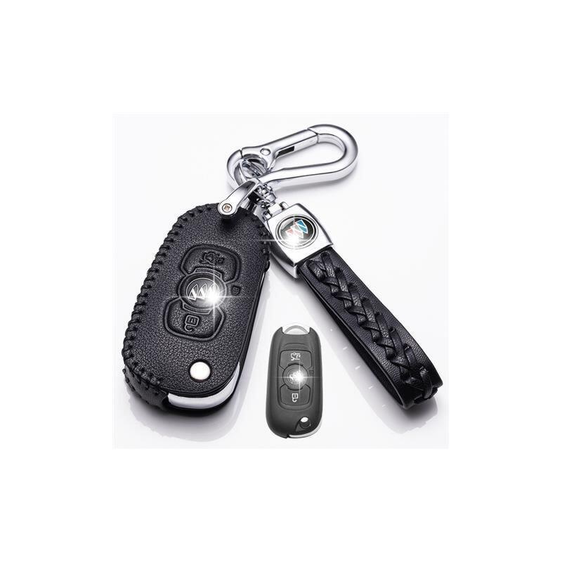 2019款别克威朗钥匙套威朗三厢15S 20T汽车真皮钥匙包车钥匙扣 别克威朗折叠三键 黑色