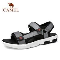 camel 骆驼男鞋夏季新品户外凉鞋男休闲轻便魔术贴沙滩凉鞋男