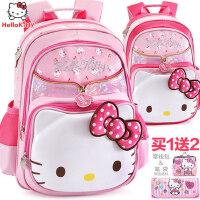 凯蒂猫小学生书包女童1-3-4年级幼儿园儿童hello kitty双肩背包6