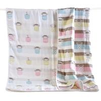 婴童纯棉六层纱布包被童被6层 婴儿包毯吸水洗澡毛巾宝宝盖毯浴巾