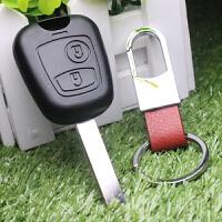标志标致206 207 307遥控钥匙壳东风标致直板汽车钥匙替换壳