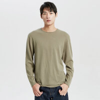 【1件2.5折到手价:124.8】MECITY男装冬季新款纯羊毛圆领纯色修身弹力毛衣