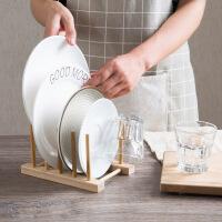 白领公社 置物架 竹制多功能碗盘碟子沥水架水杯控水架超市实木收纳架家用小书架厨房砧板架