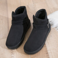 雪地靴女冬季新款棉鞋女防滑厚底保暖短筒靴加绒面包短靴女潮