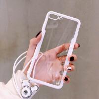 潮牌苹果X/XS max手机壳女款7plus七挂绳iPhone6s网红同款8plus透明苹果6sp六