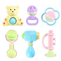 【满199减100】儿童早教益智婴幼儿手抓摇铃6件套装宝宝0-1岁玩具六一儿童节礼物