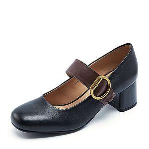 Belle/百丽春季专柜同款油皮牛皮女玛丽珍鞋BOS03AQ7