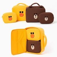 可爱布朗熊化妆包手提包收纳包莎莉鸡洗漱包 布朗熊大号 现货
