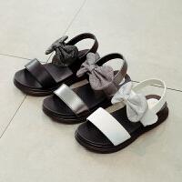 女童凉鞋中大童小女孩凉鞋蝴蝶结儿童公主鞋