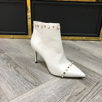 秋冬新款短靴女尖头细跟高跟靴欧美时尚女靴职业靴