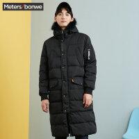 美特斯邦威2017冬装新款棉衣外套男长款韩版帅气百搭潮专柜款