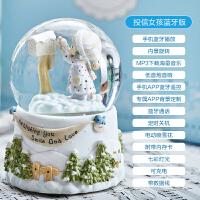创意雪花水晶球音乐盒蓝牙音箱MP3八音盒男女友儿童生日新年礼物