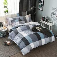 四件套全棉纯棉简约被罩1.8m双人床单被套学生宿舍寝室床上三件套