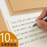 英语本小学生3-6年级 初中生用的英语本 16开大号简约批发高中生英文笔记本子四线三格a5b516k三年级统一加厚
