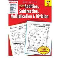 现货英文原版 5级成功数学加减乘除进口原版美国小学英语学乐家庭练习 进口书 正版