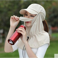 女士夏天遮阳帽防晒帽男户外骑车帽遮脸帽钓鱼护颈太阳帽