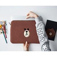 华硕戴尔苹果macbook笔记本2电脑包Air3Pro13.3寸15寸/14寸内胆包 棕色
