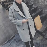 2018春秋新款风衣韩版潮流男士中长款外套宽松休闲