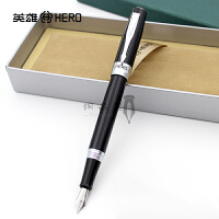 正品HERO英雄钢笔7008黑丽雅铱金笔 钢笔 墨水笔 学生练字书法笔