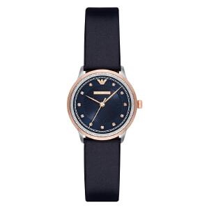 阿玛尼(Emporio Armani)手表皮质表带女士休闲时尚石英表女士腕表AR2066