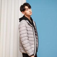 【全场2件2.5折,到手价:137.3】美特斯邦威羽绒服男冬季新款轻薄款舒适时尚青少年立领外套
