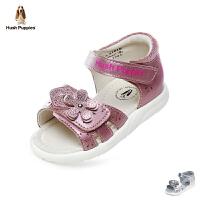 暇步士Hush Puppies童鞋2018新款婴幼童学步鞋优雅时尚宝宝鞋柔和羊皮儿童凉鞋(0-4岁可选)  P61010