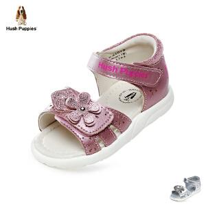 【清仓特惠】暇步士Hush Puppies童鞋2018新款婴幼童学步鞋优雅时尚宝宝鞋柔和羊皮儿童凉鞋(0-4岁可选)  P61010