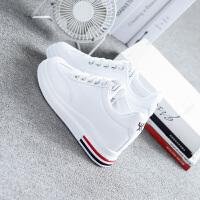 内增高小白鞋女2018新款百搭韩版学生透气厚底港风板鞋休闲白鞋子