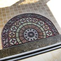 欧式入户门厅地垫地毯蹭土 半圆形脚垫脚踏垫进门门垫 免洗 60c/x90c/