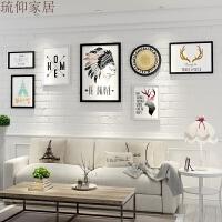 20180516071555953北欧风格客厅沙发背景墙装饰画简约现代黑白墙画餐厅挂墙墙壁挂画 250*90