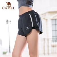 camel骆驼运动裤短裤女跑步健身裤防走光热裤夏季瑜伽裤宽松速干三分裤