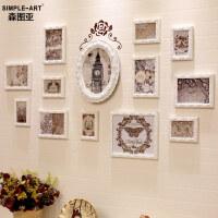 照片墙装饰简约现代欧式实木相框挂墙卧室客厅沙发背景相片框创意