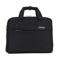 防水尼龙公文包12寸电脑包小款商务休闲包横款轻便手提包单肩斜挎