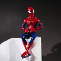 少年版可爱小蜘蛛侠可动多关节人偶模型桌面摆饰礼物 少年蜘蛛侠人偶 高18cm