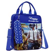 斜挎包补习袋儿童书包小学生1-3-6年级补课双肩包手提袋
