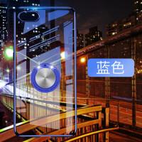 iPhone6plus手机壳透明电镀硬壳苹果6splus磁吸支架轻薄I6P保护套