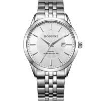 罗西尼(ROSSINI)手表钟表雅尊商务系列简约时尚日历钢带石英情侣钟表