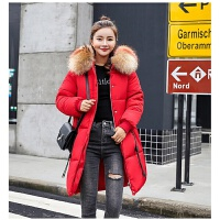 女中长款韩版羽绒棉袄加厚大毛领外套年新款棉衣