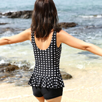 李宁游泳衣女士连体平角保守遮肚显瘦大码小胸聚拢温泉性感泳装