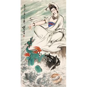 刘继卣《观音图》著名画家