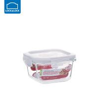 乐扣乐扣保鲜盒耐热玻璃饭盒微波炉烤箱可用密封碗便当碗冰箱储物 正【300ml】